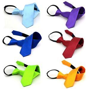 Men-Fashion-Skinny-Zipper-Tie-Narrow-Satin-Solid-Necktie-Wedding-Business-Tie