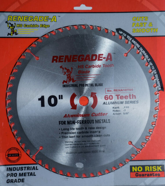"10"" 60 Tooth Aluminum Cutting Saw Blades Pro Grade Miter saw non ferrous"