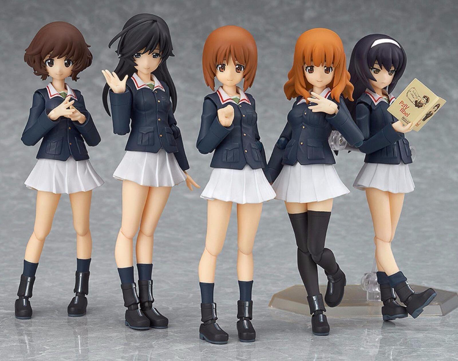Figma EX-031 Girls und Panzer Ankou Team Set Figure Max Factory From Japan F S