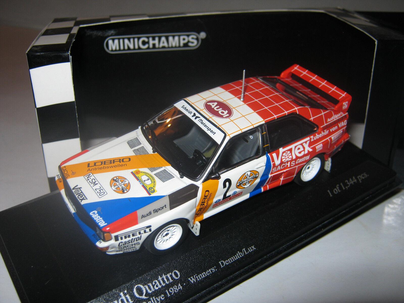 1 43 43 43 Audi Quattro Rallye 1984 Demuth Lux Minichamps 430841991 OVP new 1 of 1344 589879
