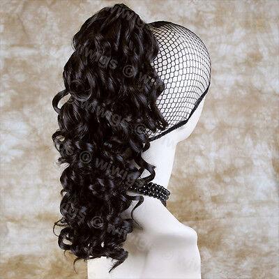 NEW Dark Brown Ponytail Irish Dance Extension Spiral Curly Drawstring Hair Piece
