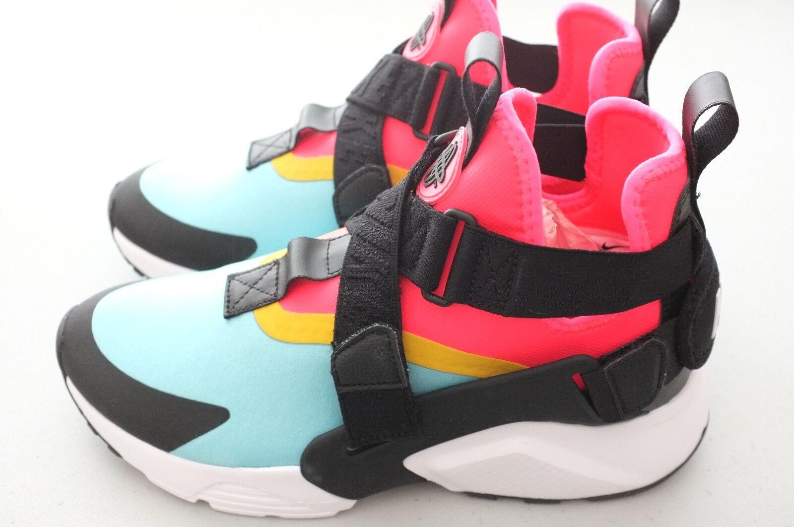 Nike Women Air Huarache City Athletic shoes Aqua Black Pink Sz 12.5 (AH6787-400)