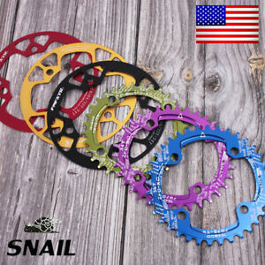 US-SNAIL-32-42T-104BCD-Chain-ring-Round-Oval-MTB-Road-Bike-Chainring-Guard-Bolts