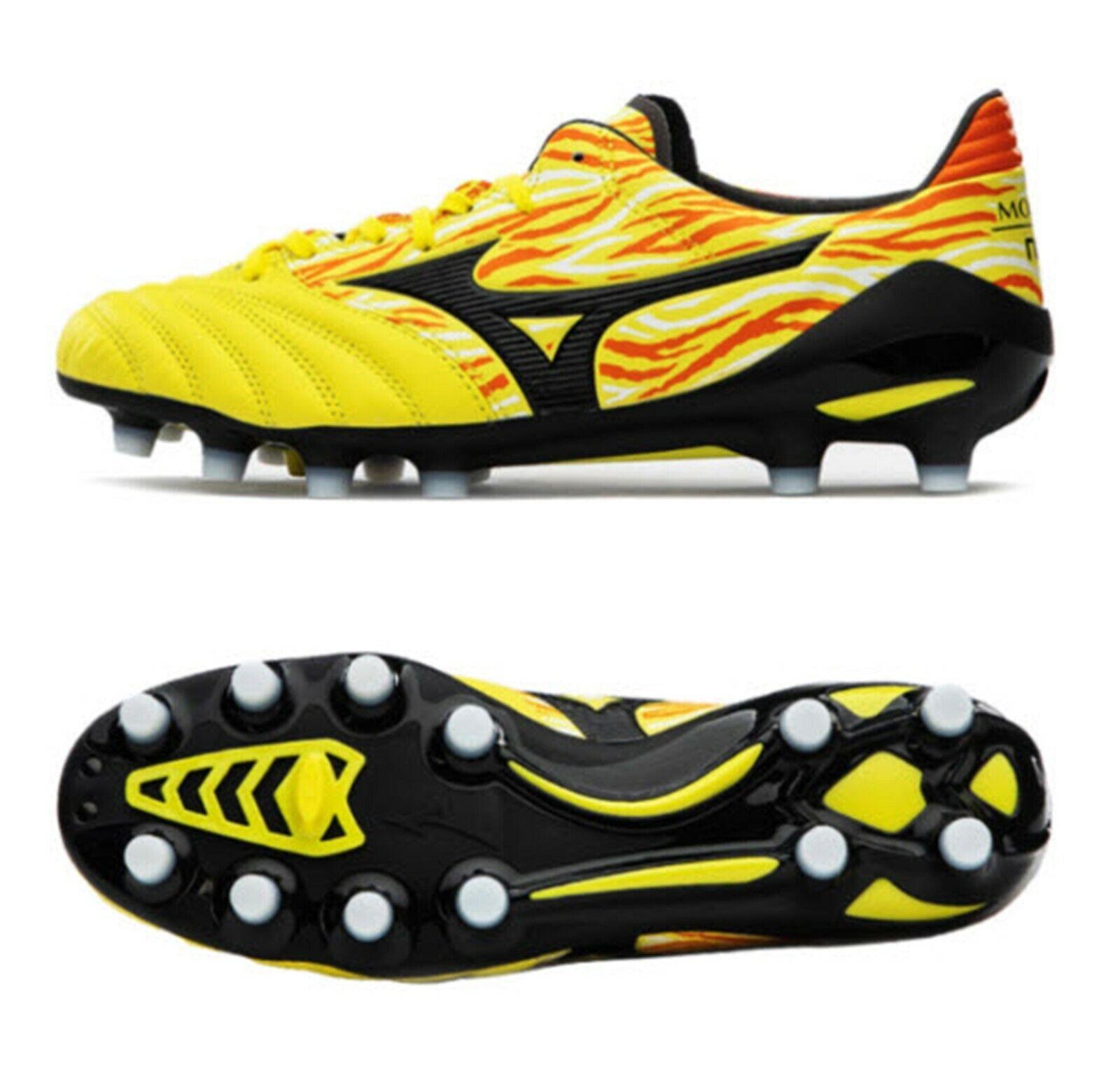 Hombre Mizuno Morelia Neo 2 MD Botines De Fútbol Zapatos de fútbol de pico amarillo P1GA195345