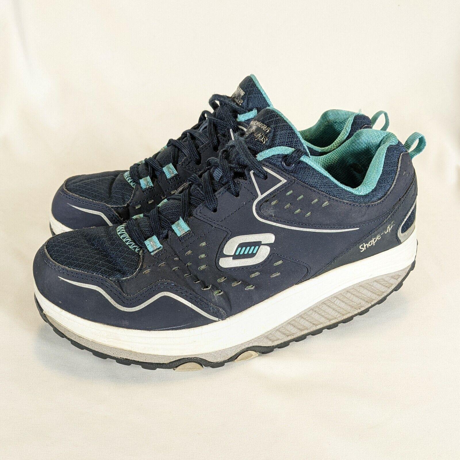 Skechers Shape Ups Femmes 9 refroidi par air en mousse à mémoire de forme bleu marine 57002