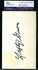 Lefty-Grove-Jsa-Coa-Certified-Authentic-Hand-Signed-3x5-Index-Card-Autograph