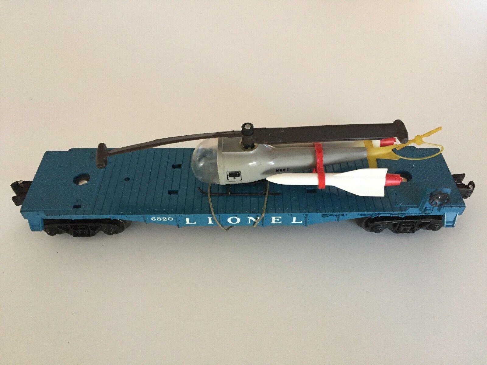 Lionel   6820 ANTENNA Missle trasporto auto con elicottero  1960  1961 POST War