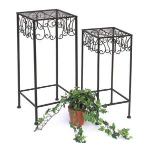 Sgabello porta fiori metallo 50-60 cm porta fiori 140127 PORTA PIANTE tavolino