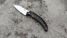 Couteau Fox Dragontac Piemontes Acier N690Co Manche Bois Made Italy FOX518ZW
