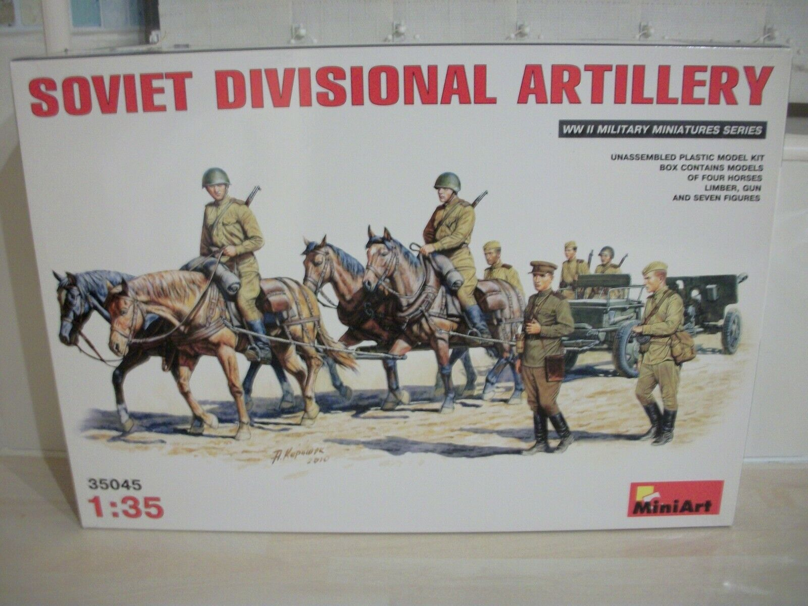 MiniArt 35045 1 35 Scale Soviet Divisional Artillery Model Kit