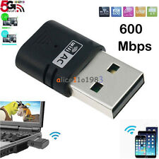 AC600Mbps Mini Wireless LAN WiFi USB Adapter 802.11ac/b/g/n Dual Band 5G&2.4G