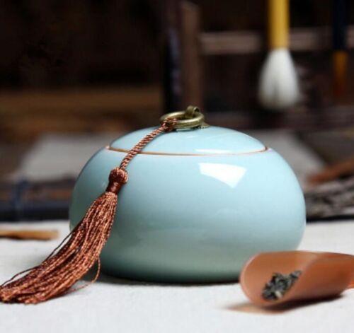 Tea Canister Ceramic Coffee Vintage Sugar Storage Chinoiserie Flour Craft Jar