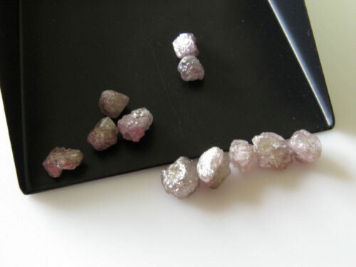 Loose Pink Raw 100/% Natural Rough Uncut Diamond Gemstone 1 Piece 7mm approx