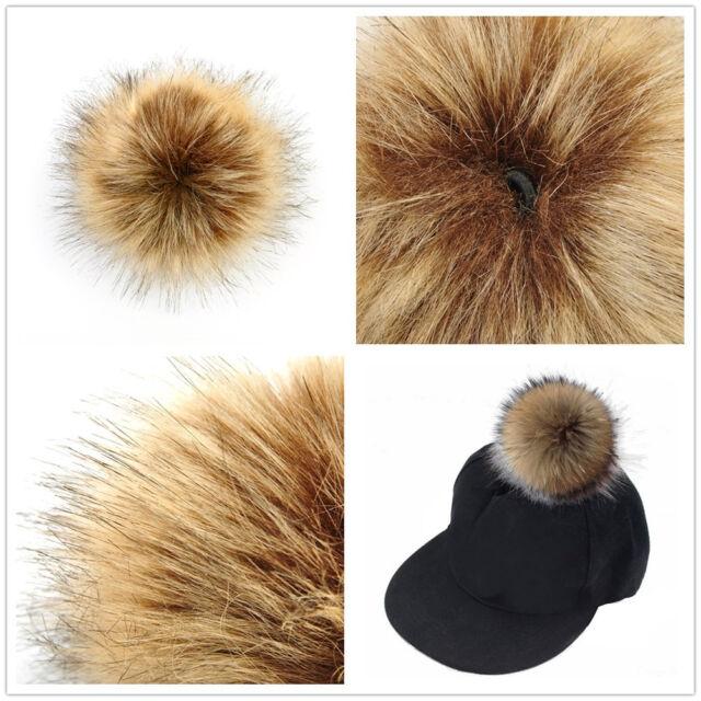 95add857b Faux Fox Fake Fur Hair Ball Fluffy Pompom Hat Clothing Bag Shoes Accessory