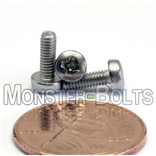 M2.5 x 7mm  Stainless Steel Phillips Pan Head Machine Screws Cross Recessed A2