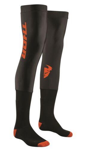 THOR KNEE BRACE COMP SOCKS MOTOCROSS ENDURO Calze Beinlinge Nero/Arancione