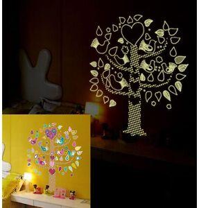 Wandtattoo-Wandaufkleber-Fluoreszierendes-Baum-Nachtleuchtend-Wandsticker