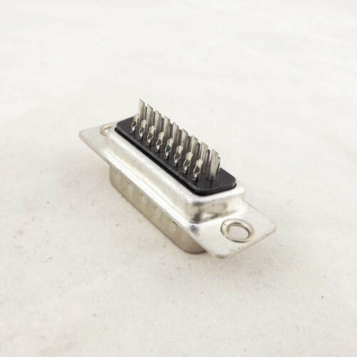 2pcs DB26M D-SUB DB26 26 Pin Male Straight 3 Rows Solder Type Adapter Connector