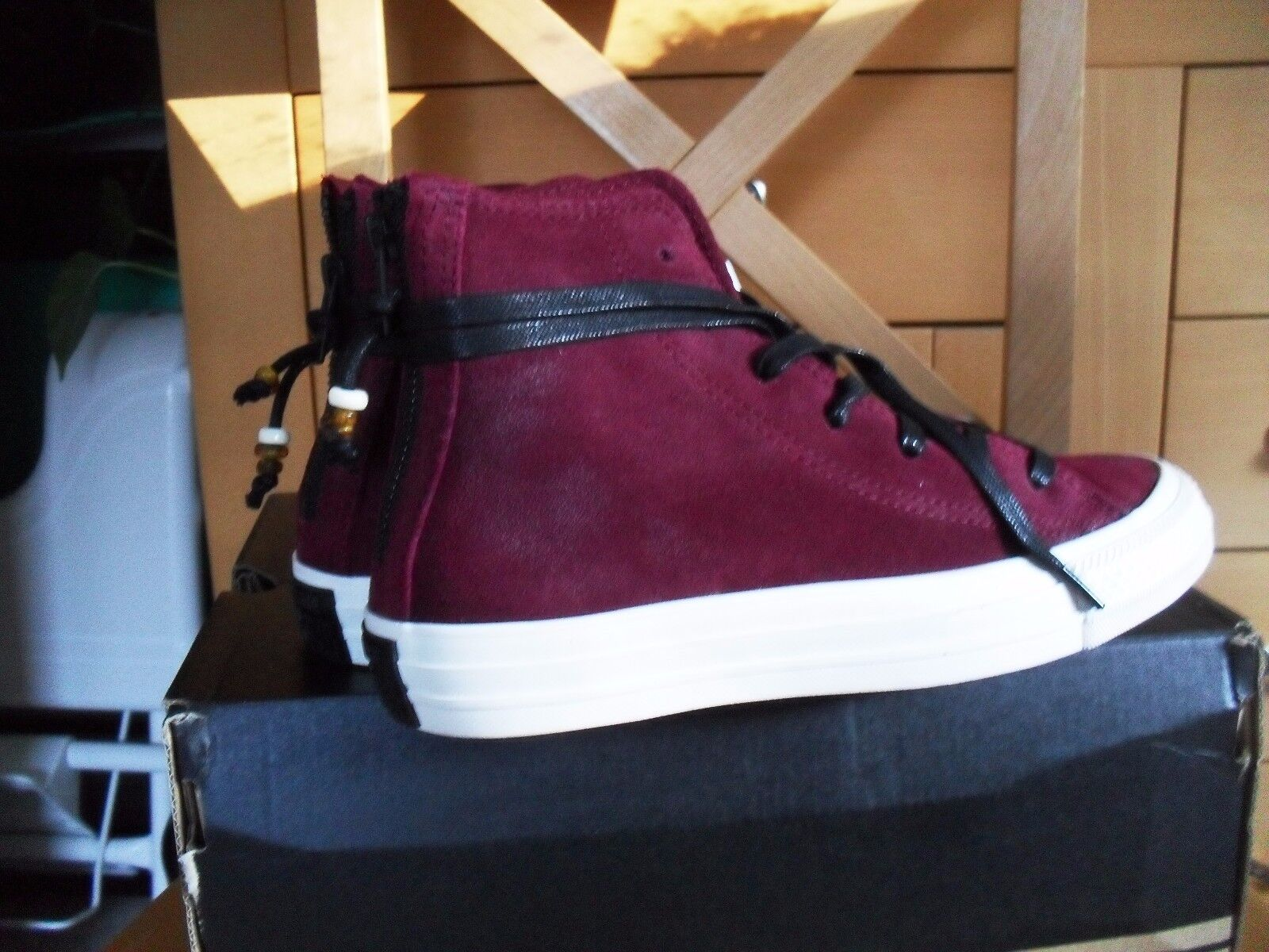 ♥♥ Converse ♥♥ Chuck Taylor All Star Gr. 36 Adulte Burnished Hi bordeaux rot NEU