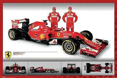 Alonso and Raikkonen Ferrari F1 Maxi Poster 61cm x 91.5cm new and sealed