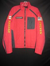 Descente Red Black Nylon Canada US Flag Nastar Insulated Ski Jacket Men's M EB9