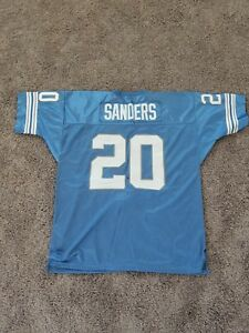 low priced c886f cf06d Details about Barry Sanders jersey size 54 throwback nfl #20 Mitchell Ness  Detroit Lions