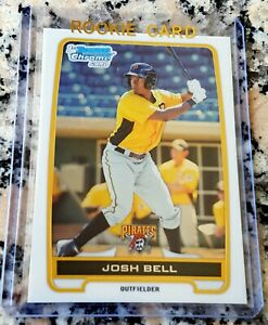 JOSH-BELL-2012-Bowman-CHROME-Rookie-Card-RC-Pirates-18-HRs-345-BA-HOT