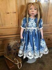 """Denim & Lace doll Dress fits 24-26"""" Plusczok, Heath, Treffeisen on Zwergnase"""