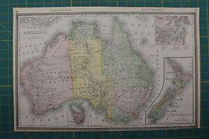 Australia vintage original 1892 rand mcnally world atlas map lot image is loading australia vintage original 1892 rand mcnally world atlas gumiabroncs Images