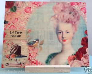 Marie Antoinette, collage art by Lisa Casineau printed on wood, by Woodsnap