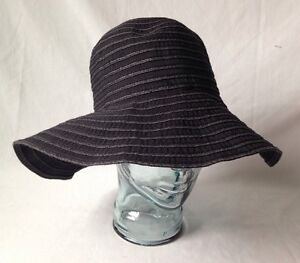 Wide brimmed hat for women blue and white summer Cape French craft Creation