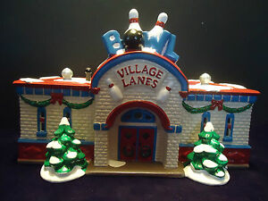 """Dept 56 Snow Village """"BOWLING ALLEY"""" with original box ...  