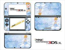 HAUT STICKER AUFKLEBER - NINTENDO NEU 3DS XL - REF 37 CINDERELLA