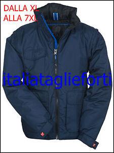 TAGLIE-FORTI-UOMO-GIUBBOTTO-BOMBER-CALDO-IMPERMEABILE-XL-7XL-NO-MAXFORT-blu