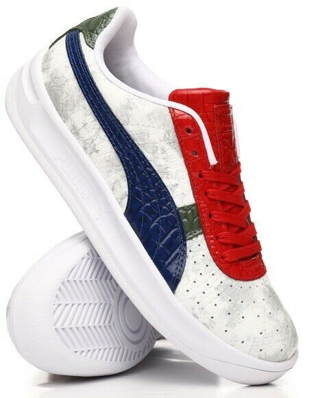 the latest 420d0 a0f8f DS PUMA GV Special Gator White Red Blue Green Croc Size 10 California Clyde  XO