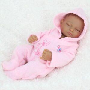 Realistic-African-American-Reborn-Baby-Doll-Lifelike-Dolls-10-034-Full-Vinyl-Girl