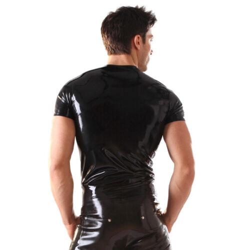 Latex Classic T-shirts Short Sleeves Men/'s Tops No Zipper Cool Customize 0.4mm