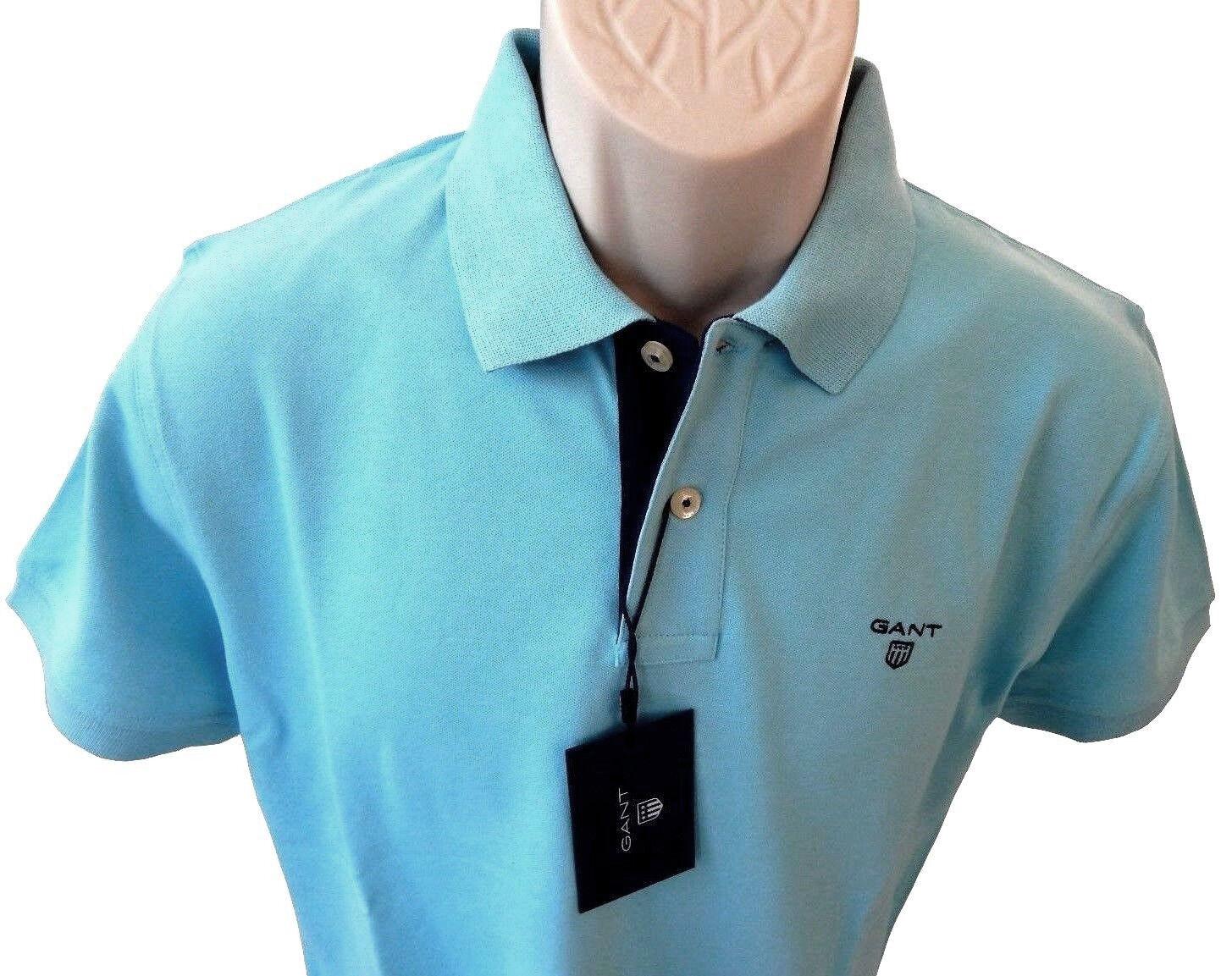 NEU Herrenmode Herren Gant Poloshirt, Topaz Blau, Gr. S, XL, XXL     | Wir haben von unseren Kunden Lob erhalten.