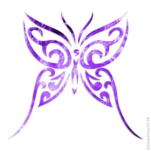 Size #133 Tribal Butterfly Art Decal Sticker Choose Pattern