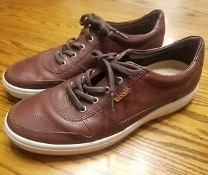 Mens-Ecco-Casual-Fashion-Sneakers-Walking-Shoes-Size-EU-45-US-11-5-Brown-Leather