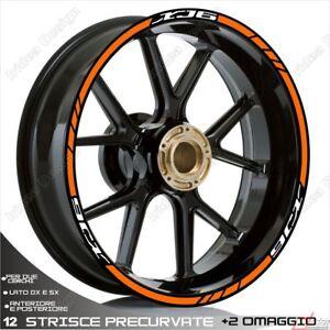 Capable Profils Roue AdhÉsifs Sport Xj6 Compatible Bianco Orange