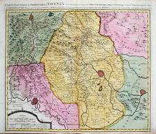 c1720 Vicenza Padova Venetien Veneto Trento Verona Kupferstich-Landkarte Mortier