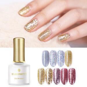 BORN-PRETTY-6ml-Gold-Silver-UV-Gel-Soak-Off-Sequins-Shimmer-Nail-Art-Gel-Varnish