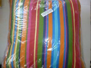 New Plow Hearth Fiesta 35653 175 Stripe Outdoor Throw Pillow 22