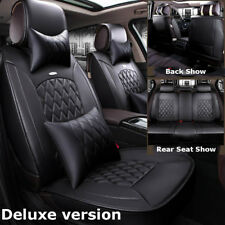 BLACK ELEGANCE AIRBAG COMPATIBLE SEAT COVERS BENCH SET for NISSAN MURANO SENTRA