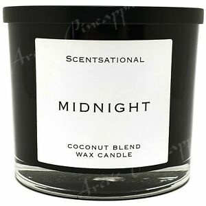 Scentsational-Coconut-Blend-Candle-Large-26oz-3-Wick-Candle-Metal-Lid-Midnight