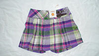Gymboree Falling For Feathers Plaid Purple Green Skirt
