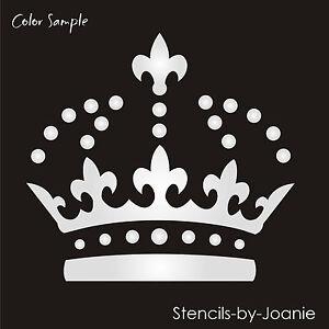 "English Decor STENCIL 10"" Fleur Crown Royal French Chic ..."