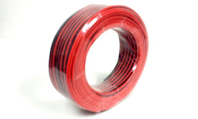 Audiopipe 100' Feet 20 GA Gauge Red Black 2 Conductor Speaker Wire Audio Cable