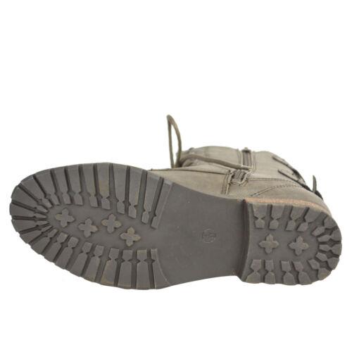 Damen Stiefel Biker Militär Armee Combat boots Knöchel Schnürschuh Flach 36-41